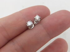 18ct/ 18k white gold Exceptional 40 point Diamond stud earrings, 750