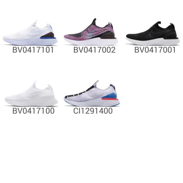 Nike Epic Phantom React FK Flyknit Sock-Like Slip-on Womens Running Shoes Pick 1