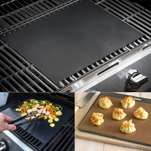 33*40 Reusable Non-stick Black BBQ Grill Mat Barbecue Baking Liner Cooking Sheet