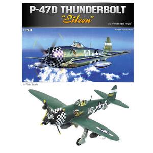 ACADEMY-12474-1-72-Plastic-Model-Kit-P-47D-Eileen