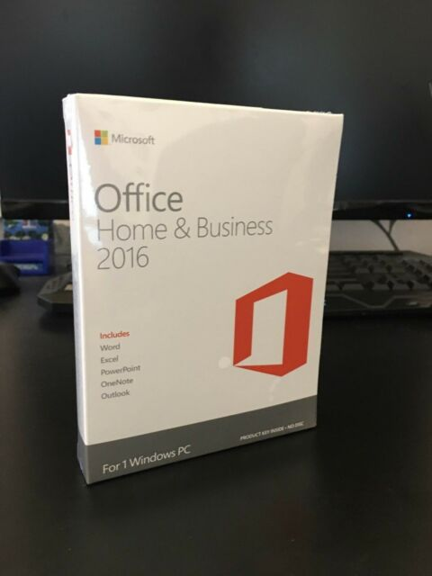 Microsoft Office Home and Business 2016 Full New Boxed Retail Version for 1PC