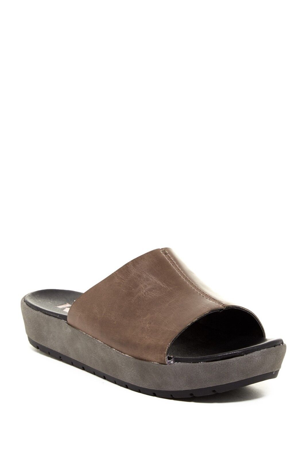 NEW KORKS Mikah Platform Leather Slide Sandal, Grey, Size Women 6.5,  85