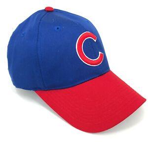 Chicago-Cubs-Outdoor-Cap-Talla-Unica-Ajustable-Sombrero-Curvo-Rojo-Ala-Azul-C