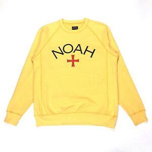 b39bbd8646c2 NWT Noah NY Men s Yellow Core Logo Crewneck Terry Sweatshirt M DS ...