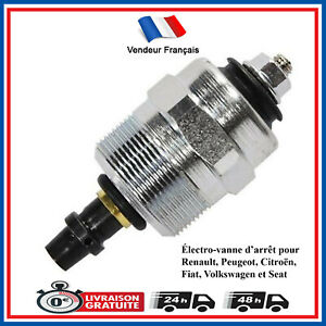 Electro-vanne-d-arret-pompe-injection-BOSCH-Renault-Peugeot-Citroen-Fiat-VW-Seat