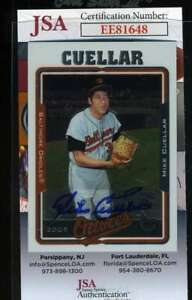 Mike-Cuellar-2005-Topps-Jsa-Coa-Hand-Signed-Authentic-Autograph