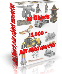 Details about 3D models collection over 15000, 3ds autocad blender + 3d  object converter