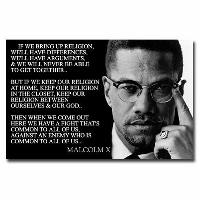 Malcolm X Citations 12x18 24 X 36 In Environ 91 44 Cm