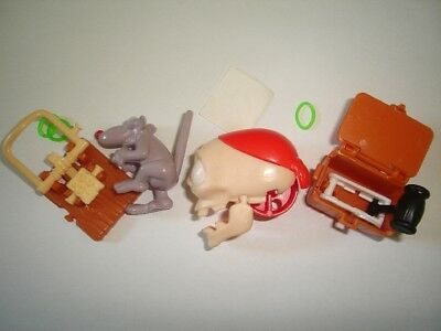 HALLOWEEN SKULL COFFIN &TRAP - KINDER SURPRISE FIGURES SET TOYS COLLECTIBLES