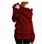 Women-039-s-Off-Shoulder-Cowl-Neck-Sweater-Jumper-Long-Sleeve-Casual-Pullover-Tops thumbnail 12