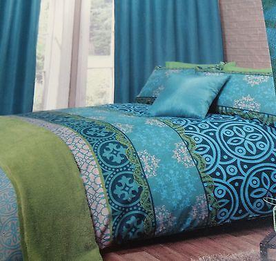 Moroccan Jewel Colours Aqua Green Turquoise Blue SINGLE Duvet Set NEW Home Gift