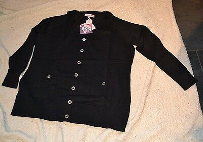 *NEW* ladies black cardigan size 18-20 with buttons