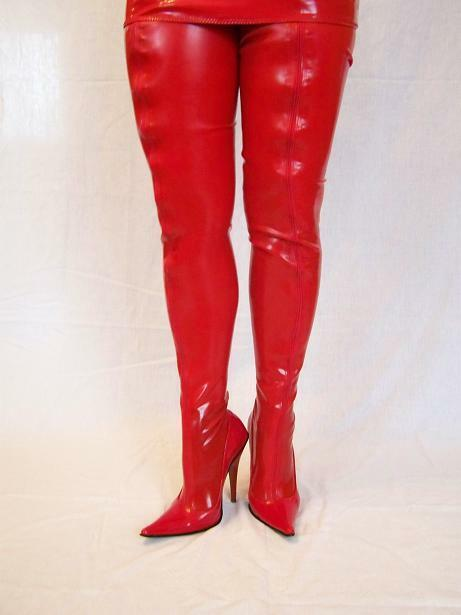 PROMOTION   LATEX RUBBER FETISH BOOTS SIZE 4-12- HEELS 5,5