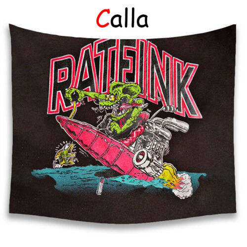 Tales of the Rat Fink Tapestries Cute Cartoon Tapestries Yoga Blanket Home Decor