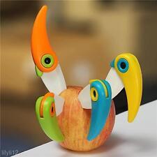 Mini Bird Pocket Ceramic Folding Knives Kitchen Fruit Paring Knife W/ ABS Handle