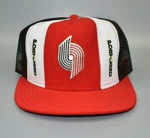 Portland-Trail-Blazers-AJD-Lucky-Stripes-NBA-Vintage-80-039-s-Snapback-Cap-Hat