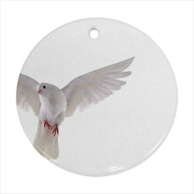 White Dove Round Porcelain Ornament - Holiday Seasons | eBay