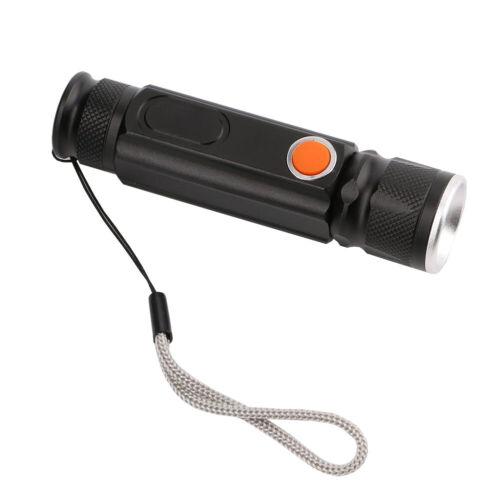 Mini USB LED Taschenlampe einziehbare wasserdichte helle wiederaufladbare Lampe