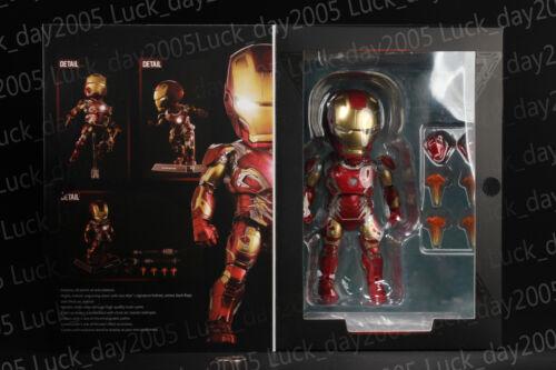 BEAST KINGDOM Avengers Age of Ultron Mini Egg Attack LED Iron Man MARK 43 Figure