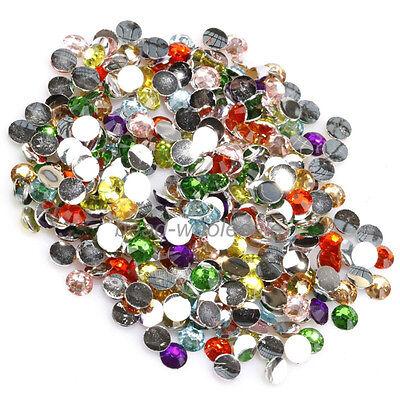 2000pcs Rhinestone Nail Art Half Round Flatback Acrylic Beads Jewelry