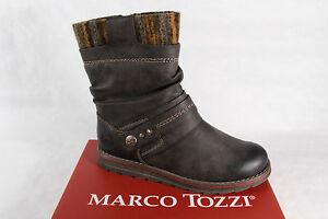 Details zu Marco Tozzi Stiefel Stiefelette Stiefeletten Boots dunkelbraun gefüttert NEU!!