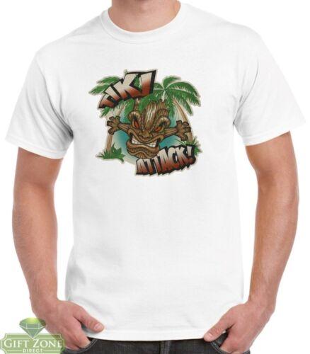 Mens Tiki Attack 100/% Cotton T-Shirt