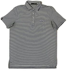 RLX-Ralph-Lauren-Golf-Polo-Striped-Shirt-Black-Multicolor-Large-Short-Sleeve