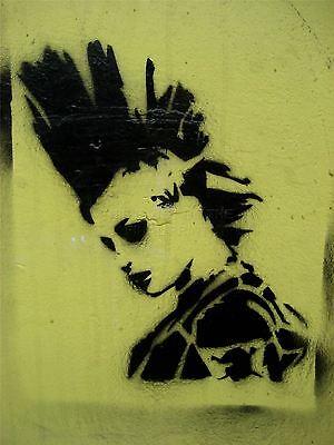 ART PRINT POSTER PHOTO GRAFFITI MURAL STREET ART MOHAWK PUNK NOFL0265
