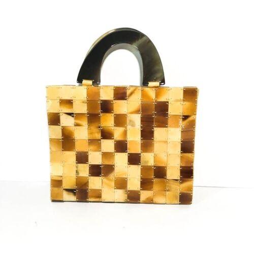 Shira Leah  Faux Tortoise-shell Tile Purse Handbag