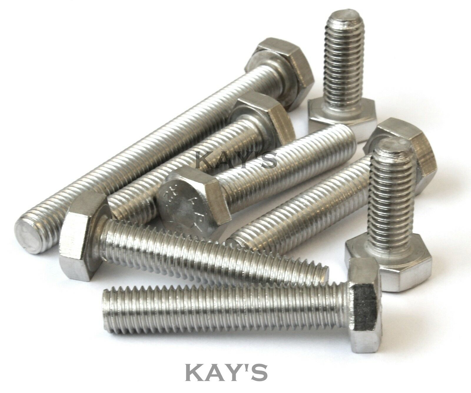 M12 HEXAGON HEAD SET SCREWS FULLY THREADED METRIC BOLTS A2 STAINLESS STEEL
