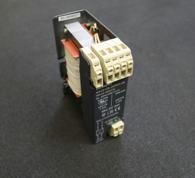 SIEMENS Stromversorgung Powersupply 4AV2106-2EB00-0A Pn= 0,24kW Upri = 400V