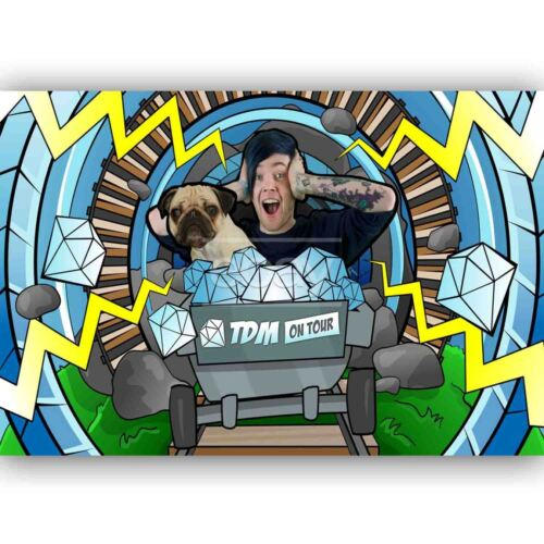 New Custom DANTDM Silk Poster Wall Decor 20x13 Inch