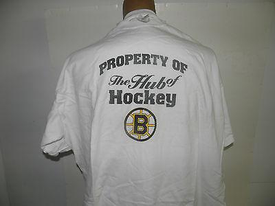 New Boston Bruins The Hub of Hockey Logo T-Shirt  Size 2XL NWOT