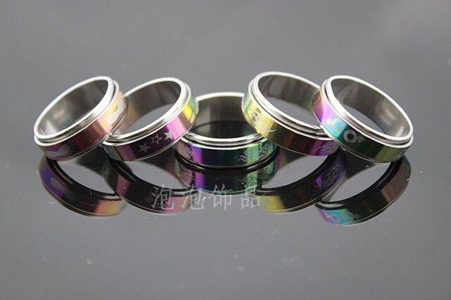 Lot De 50 bague acier anti stress Coloré ringe