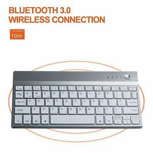 wireless keyboard mini rechargable bluetooth slim apple kindle fire tablet nexus ebay. Black Bedroom Furniture Sets. Home Design Ideas