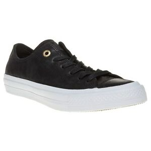 Details about New Womens Converse Black Chuck Taylor All Star II Low Leather Trainers Canvas