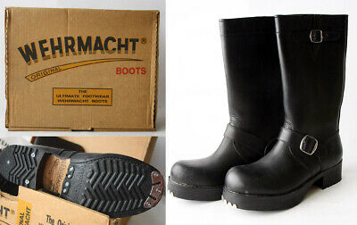 VERY RARE VINTAGE 90'S ORIGINAL WEHRMACHT LEATHER BOOTS ARMY SZ 38 / 6 NEW  ! | eBay