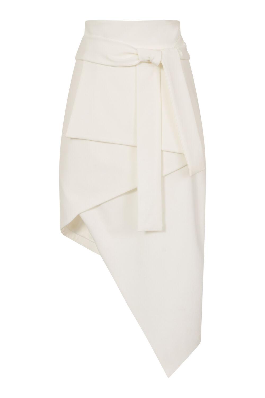 Donna Lavish Alice Bianco Asimmetrico Cravatta avanti Estiva Numeri UK UK UK 997670