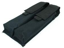 Tactical Convertible Combat Airsoft Molle Double P90 UMP Magazine Bag Pouch Blk