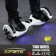 "Safe Smart 6.5"" 2 Wheel Electric Motorized Scooter Skateboard White w/ Bluetooth"