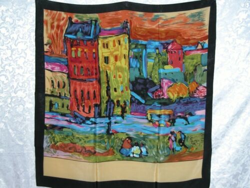 New Art Silk Scarf Wrap Wassily Repro Houses in Munich