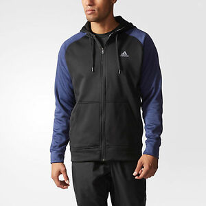 Adidas Men's Full Zip Fleece Hoodie Hooded Jacket Adidas