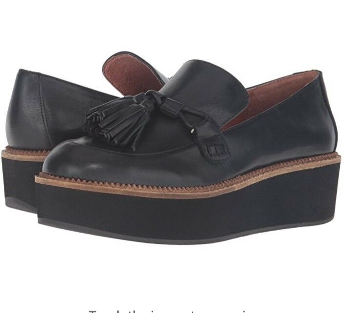 Shellys London donna Old Street Oxford nero Leather. Sz. 7.5-38 M  60