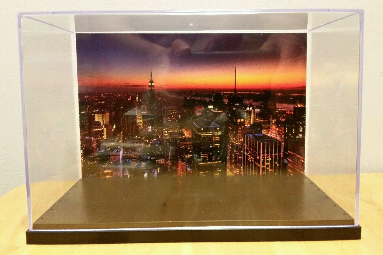 New york city skyline actionfigur anzeige stand stil diorama fall nur