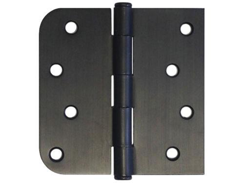 """21 4/"""" Oil Rubbed Bronze Door Hinge Straight Square x 5//8/"""" Radius Round Exterior"""