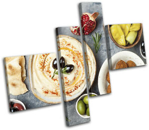 Arabic-Ramadan-Falafel-Eid-Food-Kitchen-MULTI-CANVAS-WALL-ART-Picture-Print