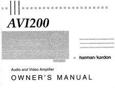 Harman Kardon AVI-200 AV Amplifier Owners Manual
