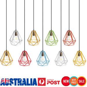 Industrial-Vintage-Metal-Hanging-Ceiling-Diamond-Cage-Lamp-Shade-Pendant-Light