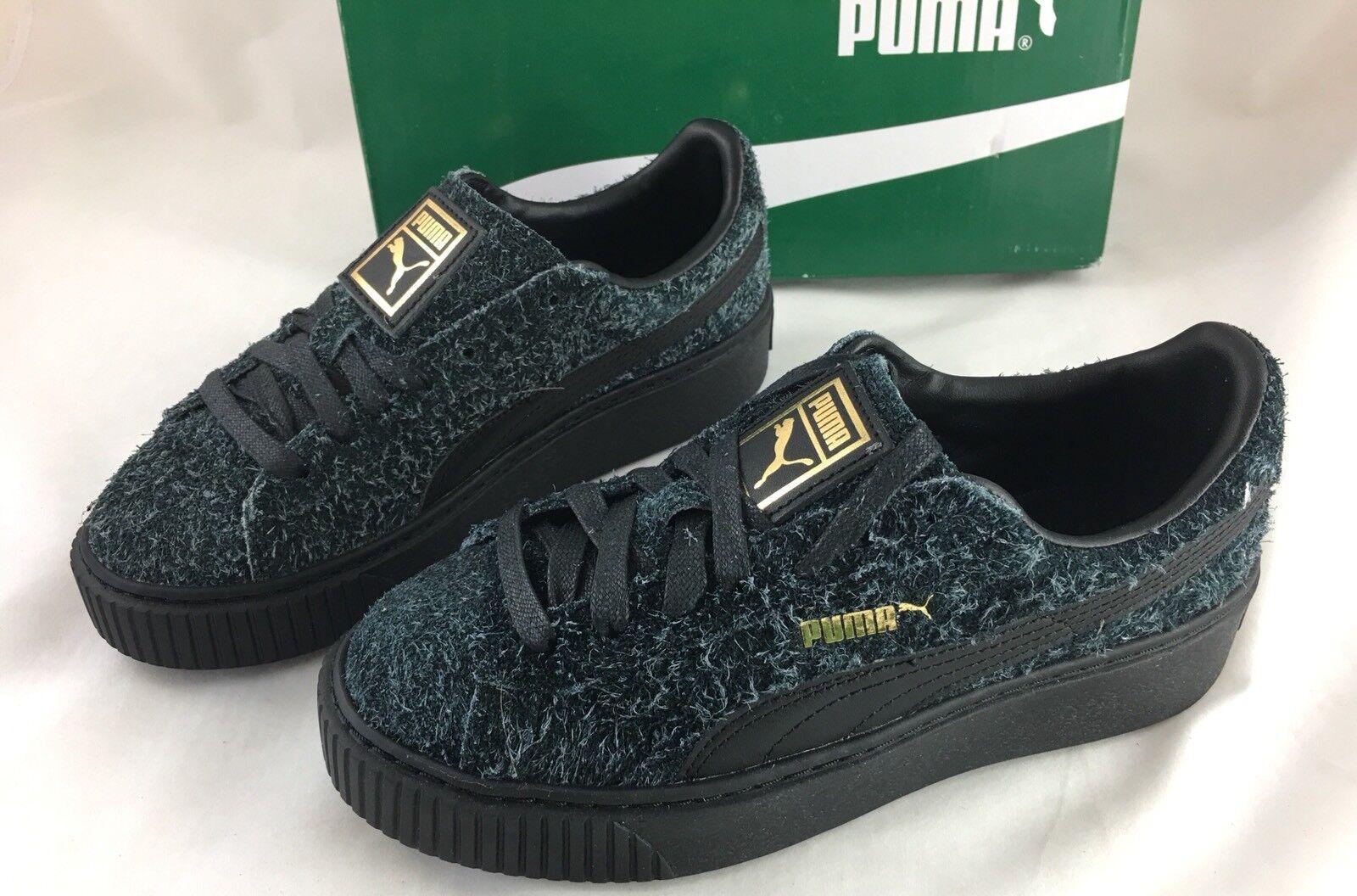 PUMA Womens Womens Womens Winterized Fuzzy Suede Platform Elemental Casual Sneaker Size 6 5c0e82