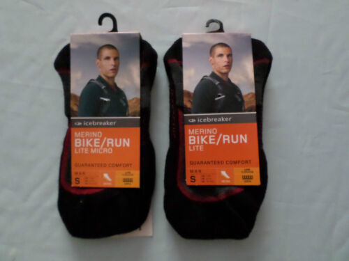 2 x gents icebreaker 60% merino wool cycling running training socks small 675